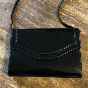 VINTAGE 80S PATIENT LEATHER BAG